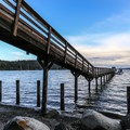 Olga beach and pier.- Troubled Waters: The Endangered Fisheries of the Salish Sea