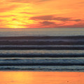Sunset at Sand Dollar Beach.- Sink Your Toes into Miles of Sand