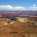 View of canyons beyond Mesa Arch.- Mesa Arch