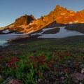 Wildflowers thrive by the spring melt in the lake's higher bed.- 30 Alpine Lakes You Should Visit This Summer