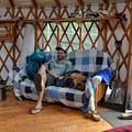 Relaxing in the backcountry.- Phoenix Ridge Backcountry Yurt