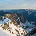 View from the summit of Vesper Peak toward Copper Lake.- Mountaineering in the West: 15 Spectacular Summits