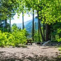 Typical site in Eightmile Campground.- Great Camping Near the Enchantments