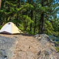 Typical campsite at Rock Island Campground.- Best Lake + River Camping in Washington