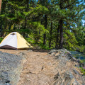 Typical campsite at Rock Island Campground.- A Guide To Camping in Washington