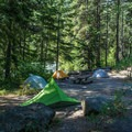 Group campsite at Eightmile Campground.- Great Camping Near the Enchantments