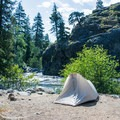 Tyical campsite at Bridge Creek Campground.- Great Camping Near the Enchantments