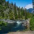 Icicle Creek access from Ida Creek Campground.- Oktoberfest in Leavenworth