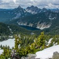 Looking northeast from the Granite Mountain Lookout.- 5 Amazing Hikes in the Alpine Lakes Wilderness