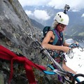 Belay station on Chair Peak, where there is a piton and additional protection.- A Month of Female Badassery