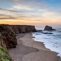 Panther Beach from the top of the cliffs.- Driving 101: An Unbeatable West Coast Road Trip
