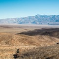 View from the west entrance of Death Valley National Park- Where NOT to go this summer - unless you can take the heat!