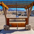 Potable water stations at Sunset Campground.- Camping in Death Valley National Park
