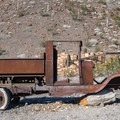 Old rusted car on the Tie Canyon Trail.- A First Timer's Guide to Hiking in Death Valley National Park