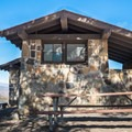 Restrooms at Emigrant Campground.- Camping in Death Valley National Park