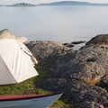 One of the beautiful campsites on Jones Island.- Beach Camping in the West