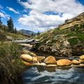Not a bad view for a mountain spring!- Jordan Hot Springs via Blackrock Trailhead