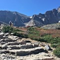 The trail junction. Chasm Lake Trail follows southeast, the Boulders Trail up to Longs Peak spurs west, Rocky Mountain National Park.- 100 Incredible Adventures in Our National Parks