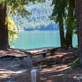 Day use picnic area at Kachess Lake Campground.- Best Lake + River Camping in Washington