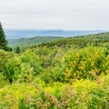 View from the parking area at Mount Kearsarge.- A Fall Family Road Trip Through New Hampshire