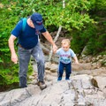 Section of rocky trail on the Rollins Trail up to Mount Kearsarge.- 15 Best Hikes for New Hampshire Fall Foliage