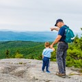 Viewpoint along the Rollins Trail up Mount Kearsarge.- Best New Hampshire Towns for Family Adventure