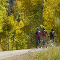 Cyclists on Kebler Pass. The scenic route lies near Crested Butte in Colorado's Elk Mountains. - Protecting Where You Play on Colorado Public Lands Day