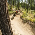 Rolling through the turns on Round the Mountain.- Why Fall is Great for Mountain Biking + Where to Go