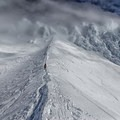 Heading from the Hogsback up into the Pearly Gates on Mount Hood.- Shatter Your Comfort Zone and Try Something New