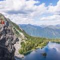 Life on the edge above Theseus Lake.- Minotaur Lake