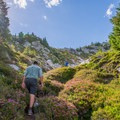 Working up the summit trail to Labyrinth Mountain.- Best Places for Sasquatch Spotting