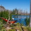Wasco Lake makes for a wonderful rest spot.- Canyon Creek Meadows