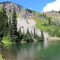 Lake Margaret surrounded by rocky ridges.- Washington's Best Lakes
