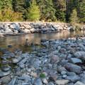 Nason Creek runs adjacent to Nason Creek Campground.- Great Camping Near the Enchantments