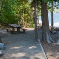 Campsite at Glacier View Campground.- Best Lake + River Camping in Washington