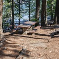 Typical campsite in Glacier View Campground.- Great Camping Near the Enchantments