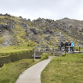A dock leading to Brennisteinsalda.- Must-Visit Hot Springs in Iceland