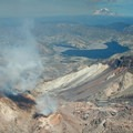 Active fumeroles in the Mount St. Helens lava dome.- Mount St. Helens Hike: Monitor Ridge Route