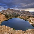 An amazing sunset from Liberty Lake.- Ruby Mountains Wilderness