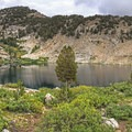 Liberty Lake from the shore on the far side- Ruby Mountains Wilderness