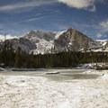 Mount Alice (13,310 ft) looms over a pond adjacent Lion Lake 1.- Denver's Best Day Hikes