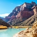 Cerulean hues of the Little Colorado River in Grand Canyon - Where NOT to go this summer - unless you can take the heat!