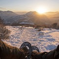 Taking in the views and the fresh air from the Little Mountain Trail. - 5 Great Snowshoe Trails Near Salt Lake City