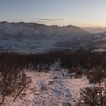 Sunset along the Little Mountain Trail.- 5 Great Snowshoe Trails Near Salt Lake City