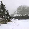 Loch Vale in Rocky Mountain National Park.- Great Snowshoeing Near Denver
