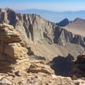 """Mount Whitney: Looking at Mount Russell (14,094'), right before """"The Notch.""""- 35 Summit Views Worth Hiking For"""