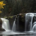 Lower Lewis River Falls.- Best Hikes for Fall Colors in Washington