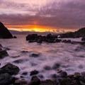 A spectacular sunset from Luffenholtz Beach.- California's Quietest Beaches