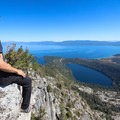 The summit of Maggie's Peak (8,699 ft).- 3-Day Fall Itinerary for South Lake Tahoe
