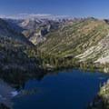 Looking down onto Leggit Lake from Peak 9,694.- 35 Summit Views Worth Hiking For